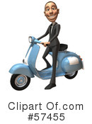 Royalty-Free (RF) White Corporate Businessman Character Clipart Illustration #57455