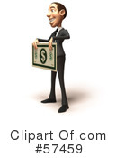 Royalty-Free (RF) White Corporate Businessman Character Clipart Illustration #57459
