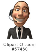 Royalty-Free (RF) White Corporate Businessman Character Clipart Illustration #57460