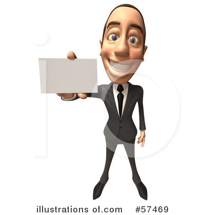Royalty-Free (RF) White Corporate Businessman Character Clipart Illustration by Julos - Stock Sample #57469