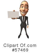 White Corporate Businessman Character Clipart #57469 by Julos