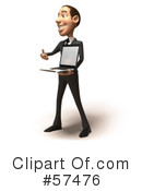 Royalty-Free (RF) White Corporate Businessman Character Clipart Illustration #57476