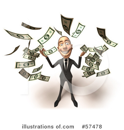 White Businessman Character Clipart #57478 by Julos