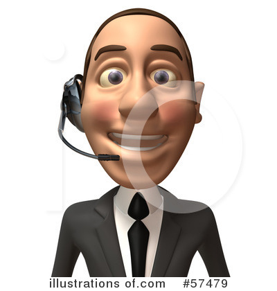 White Corporate Businessman Character Clipart #57479 by Julos