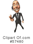 White Corporate Businessman Character Clipart #57480 by Julos