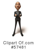 White Corporate Businessman Character Clipart #57481 by Julos