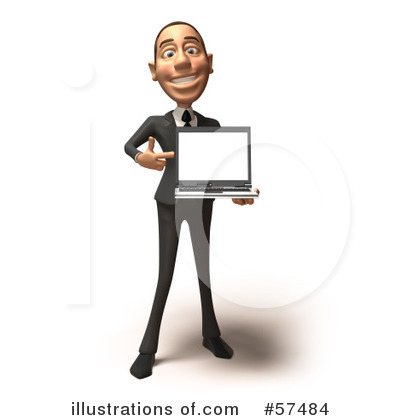 White Corporate Businessman Character Clipart #57484 by Julos