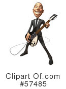 Royalty-Free (RF) White Corporate Businessman Character Clipart Illustration #57485