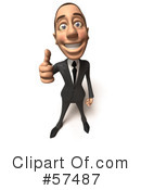 White Corporate Businessman Character Clipart #57487 by Julos