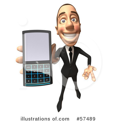 White Corporate Businessman Character Clipart #57489 by Julos