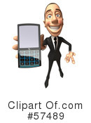 Royalty-Free (RF) White Corporate Businessman Character Clipart Illustration #57489