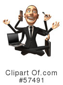White Corporate Businessman Character Clipart #57491 by Julos