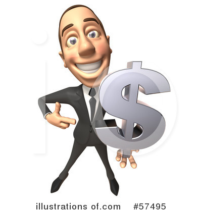 White Businessman Character Clipart #57495 by Julos