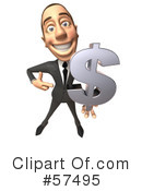 White Corporate Businessman Character Clipart #57495 by Julos