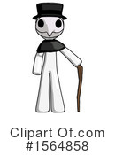 White Design Mascot Clipart #1564858 by Leo Blanchette