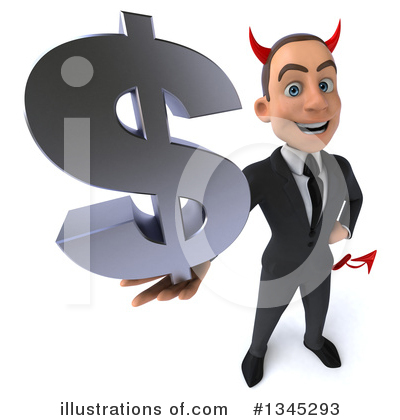 White Devil Businessman Clipart #1345293 by Julos
