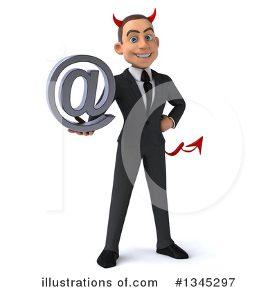 Young White Businessman Clipart #1345297 by Julos