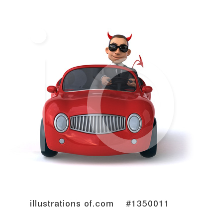 White Devil Businessman Clipart #1350011 by Julos