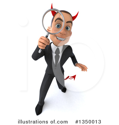White Devil Businessman Clipart #1350013 by Julos