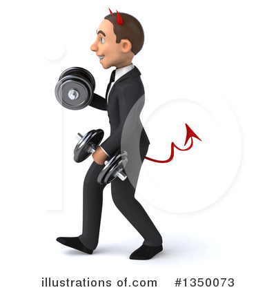 White Devil Businessman Clipart #1350073 by Julos