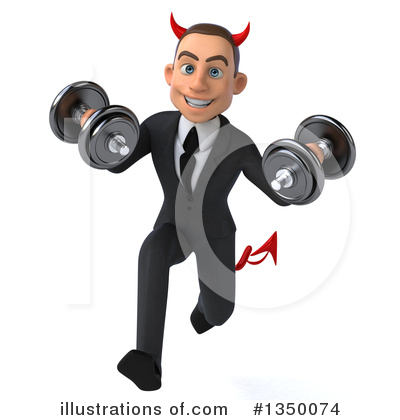 White Devil Businessman Clipart #1350074 by Julos
