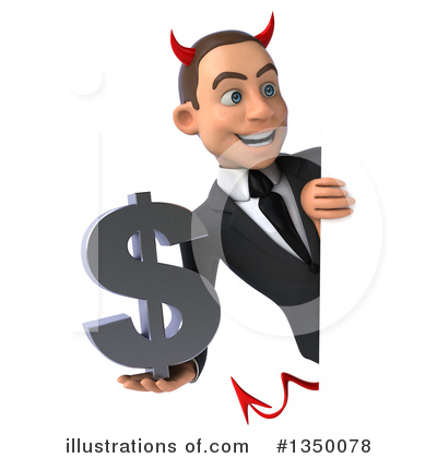 White Devil Businessman Clipart #1350078 by Julos