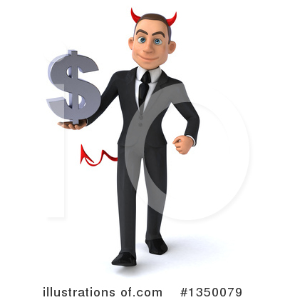White Devil Businessman Clipart #1350079 by Julos
