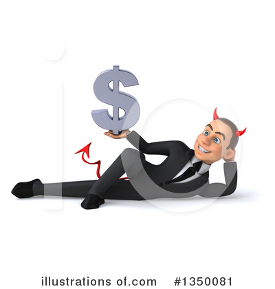 White Devil Businessman Clipart #1350081 by Julos