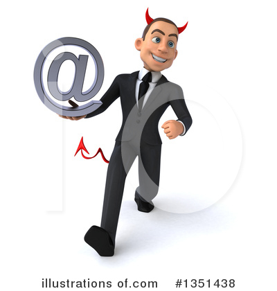 Devil White Businessman Clipart #1351438 by Julos