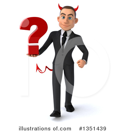 White Devil Businessman Clipart #1351439 by Julos