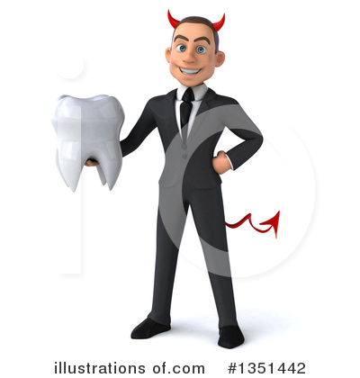 White Devil Businessman Clipart #1351442 by Julos