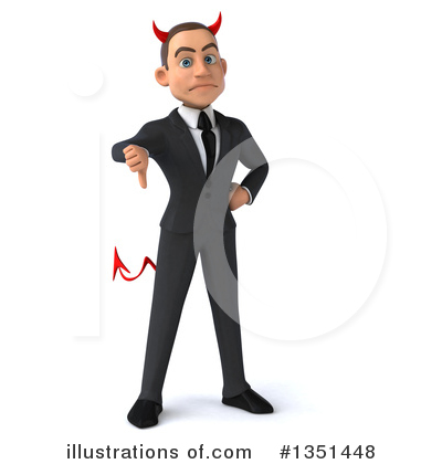 Devil White Businessman Clipart #1351448 by Julos