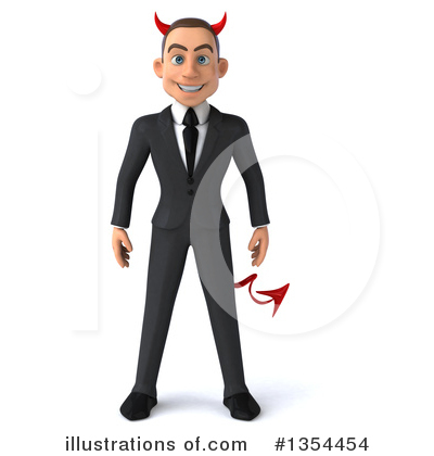 Young White Businessman Clipart #1354454 by Julos