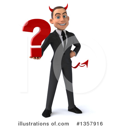 Devil White Businessman Clipart #1357916 by Julos