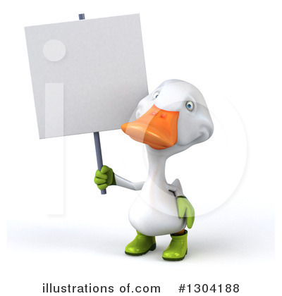 White Duck Clipart #1304188 by Julos