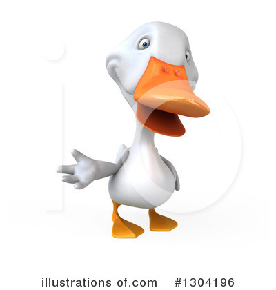 White Duck Clipart #1304196 by Julos