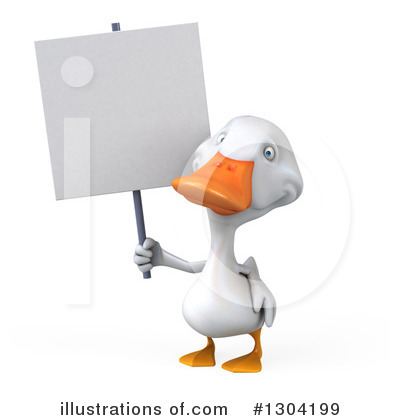 White Duck Clipart #1304199 by Julos