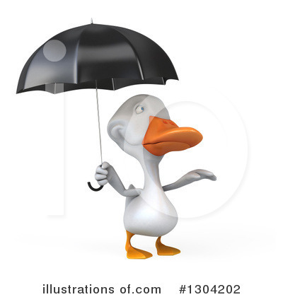 White Duck Clipart #1304202 by Julos
