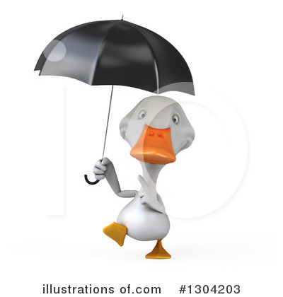 White Duck Clipart #1304203 by Julos