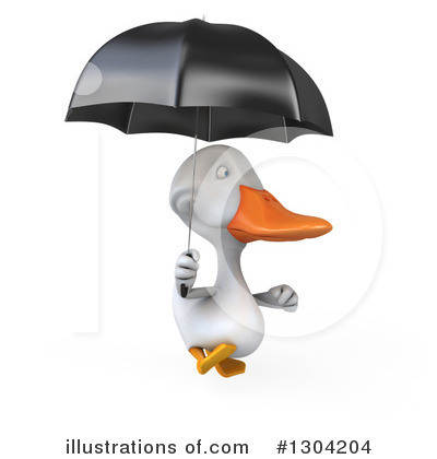 White Duck Clipart #1304204 by Julos
