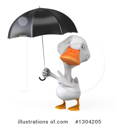 White Duck Clipart #1304205 by Julos
