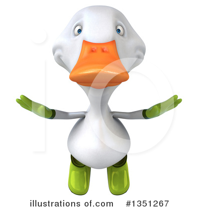 White Duck Clipart #1351267 by Julos