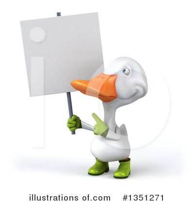 White Duck Clipart #1351271 by Julos