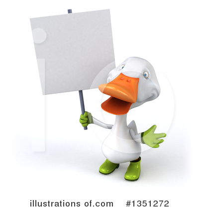 White Duck Clipart #1351272 by Julos