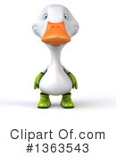 White Duck Clipart #1363543 by Julos