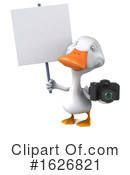White Duck Clipart #1626821 by Julos