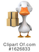 White Duck Clipart #1626833 by Julos