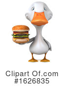 White Duck Clipart #1626835 by Julos