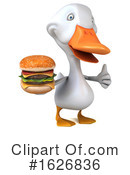 White Duck Clipart #1626836 by Julos