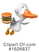 White Duck Clipart #1626837 by Julos